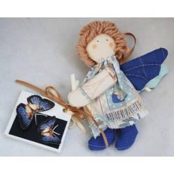 Голубые бабочки Handmade - в подарочной коробке
