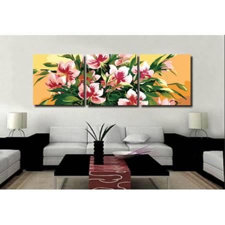 Картина по номерам Розовые лилии MT3032,