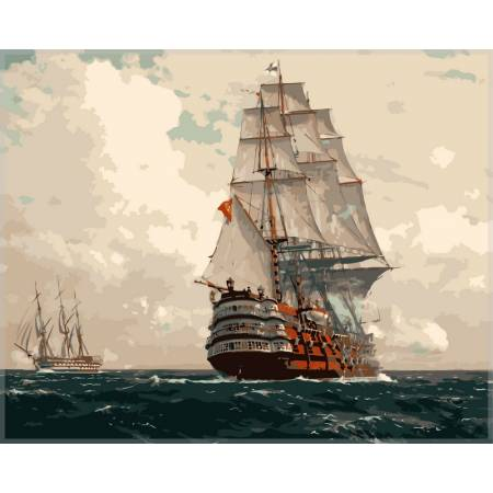 Картина по номерам Корабль в море VP256, Babylon