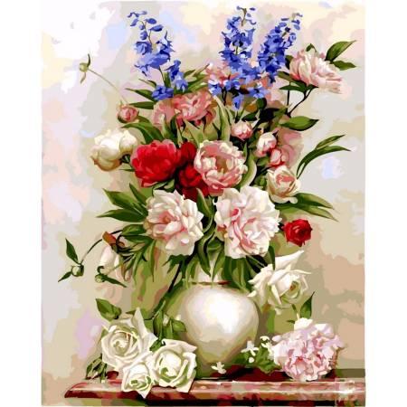Картина по номерам «Букет в белой вазе», модель VP328