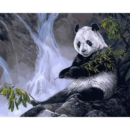 Картина по номерам Панда с бамбуком VP475, Babylon