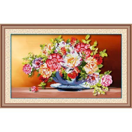 Картина по номерам Яркий букет в вазе  (5D-005), Lasko