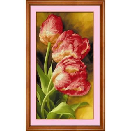 Картина по номерам Красные тюльпаны (5D-013), Lasko