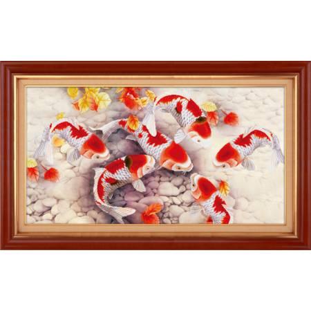 Картина по номерам Золотые рыбки (5D-040), Lasko