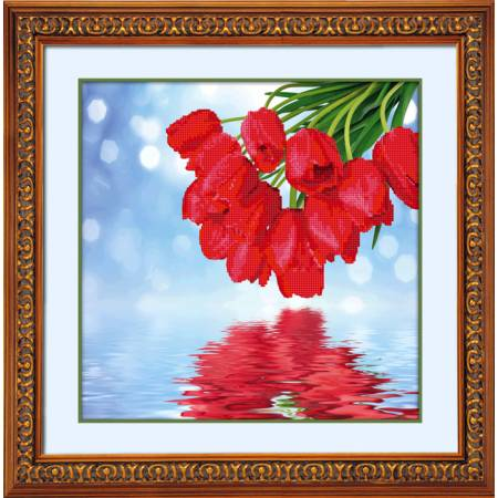 Картина по номерам Букет из тюльпанов (5D-001), Lasko