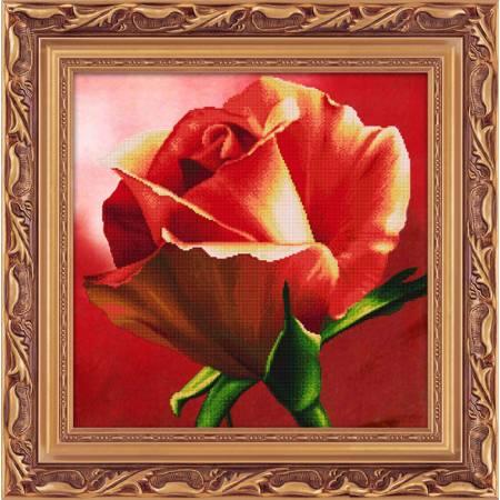 Картина по номерам Красная роза (5D-054), Lasko