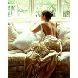Алмазная техника - Девушка у окна
