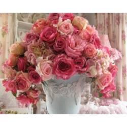 Алмазная техника - Нежный букет роз