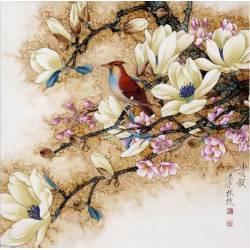 Алмазная вышивка - Птица на ветке