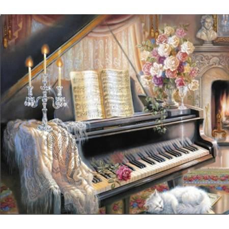 Картина по номерам Волшебная музыка - на подрамнике (TN704), DIY