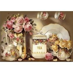 Набор алмазной вышивки - Чайный натюрморт