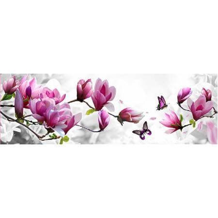Картина по номерам Алмазная выкладка - Бабочка на цветочной ветке (FS040), DIY