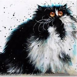 Алмазная вышивка - Удивленный кот