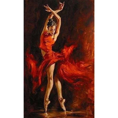 Картина по номерам Набор алмазной техники - Танцовщица (FS029), DIY