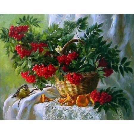 Картина по номерам Красная рябина (TN651), DIY