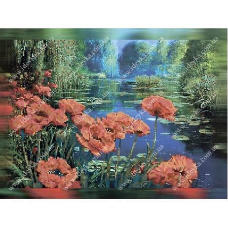 Картина по номерам маки у пруда  (ВБ1051), Идейка