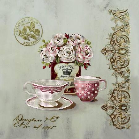 «Вышивка бисером на подрамнике - Чайные розы», модель ВБ1001