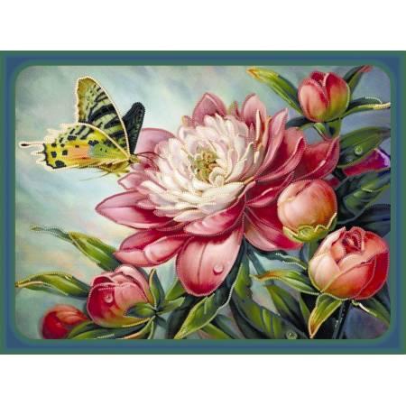 Картина по номерам Бабочка на пионе (ВБ1006), Идейка
