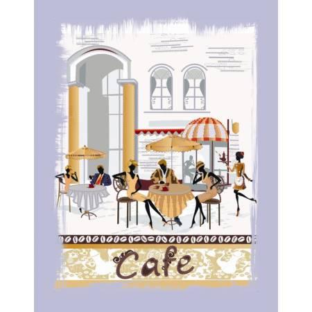 Картина по номерам Городское кафе (ВБ1031), Идейка