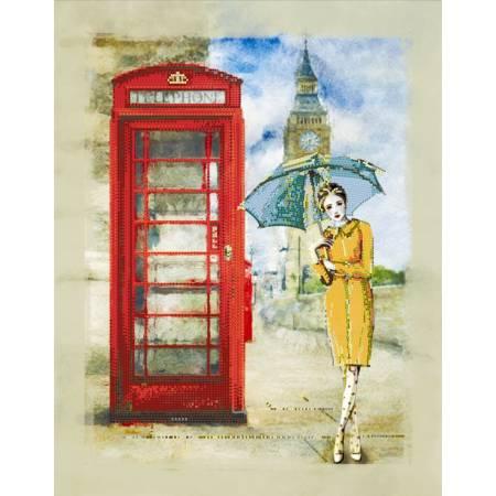 «Вышивка бисером на подрамнике - Лондонский дождь», модель ВБ1033