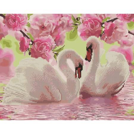 Алмазка-картина Лебеди и сакура