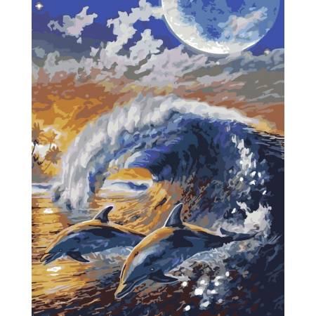 Картина по номерам На волнах 2 AS0173, ArtStory
