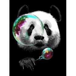Панда и мыльные пузыри