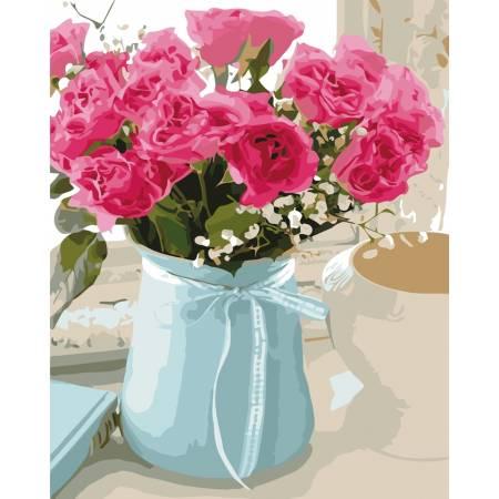 Картина по номерам Розовые розы AS0521, ArtStory