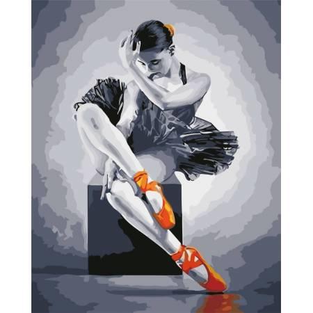 Картина по номерам Балеринка AS0566, ArtStory