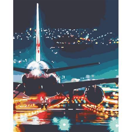 Картина по номерам Огни аэропорта AS0587, ArtStory