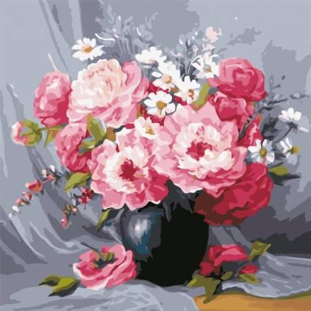 Картина по номерам Чайные розы в вазе AS0603, ArtStory