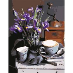 Кофе и ирисы