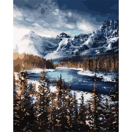 Картина по номерам Горы зимой AS0705, ArtStory