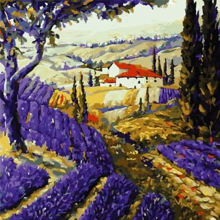 Картина по номерам Просторы прованса AS0804, ArtStory