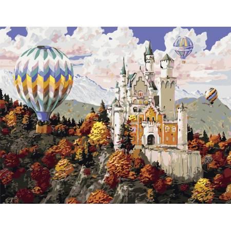 Картина по номерам Замок в горах  AS0814, ArtStory