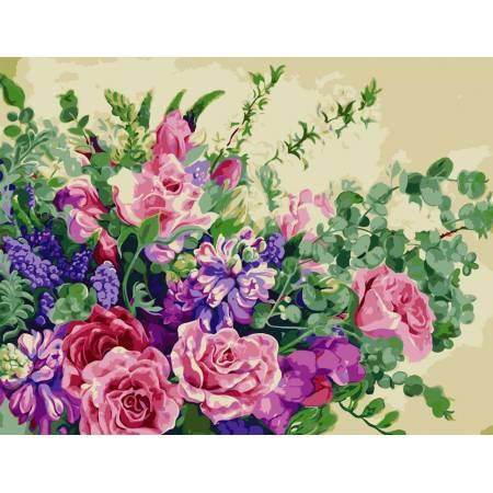 Картина по номерам Чудесные цветы  AS0815, ArtStory
