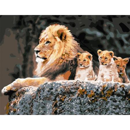 Картина по номерам Семья львов 2 AS0820, ArtStory