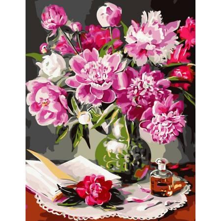 Картина по номерам Букет из пионов  AS0821, ArtStory