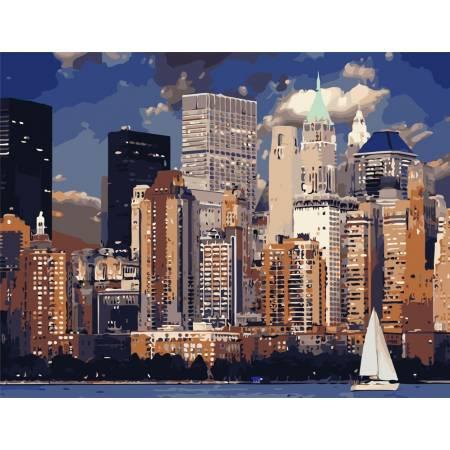 Картина по номерам Вечер в Нью-Йорке AS0827, ArtStory