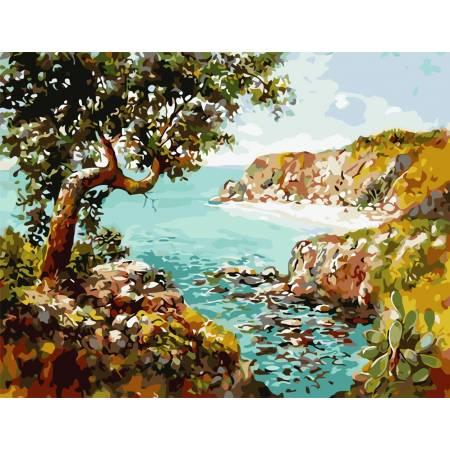 Картина по номерам Уединенный пляж  AS0833, ArtStory