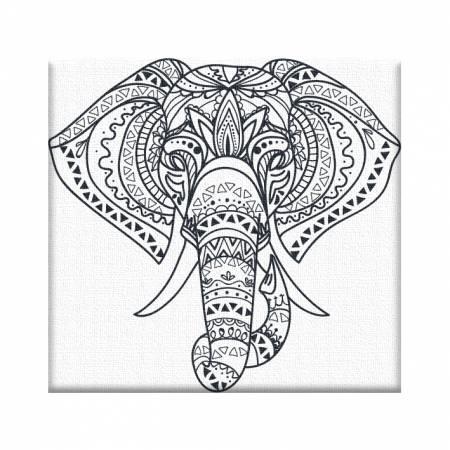 Картина по номерам «Раскраска Слоненок - Без Коробки», модель AR-10