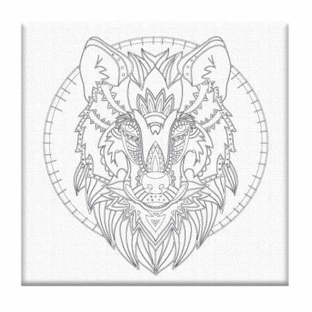 Картина по номерам «Раскраска Волк - Без Коробки», модель AR-016
