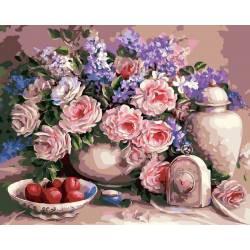 Чайные розы и сливы