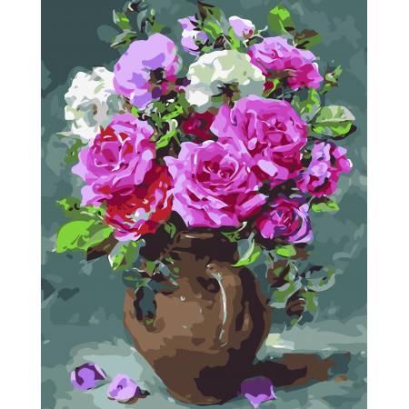 Картина по номерам «Восхитительные розы», модель AS0038