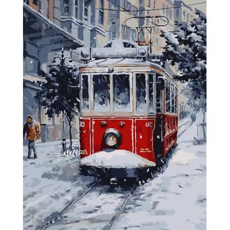 Картина по номерам «Снежный город», модель AS0042