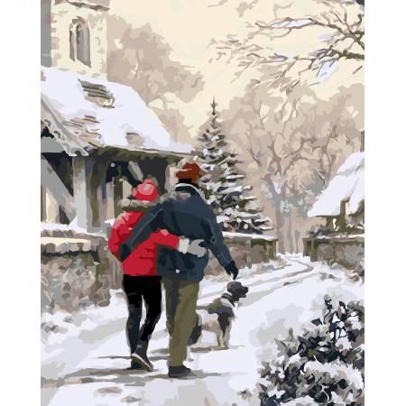 Картина по номерам Зимняя прогулка AS0043, ArtStory