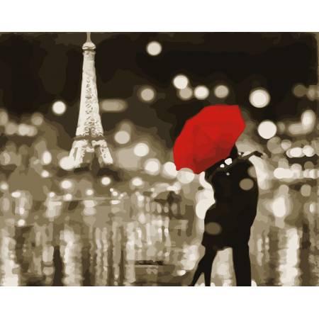Картина по номерам «Романтичный Париж», модель AS0047