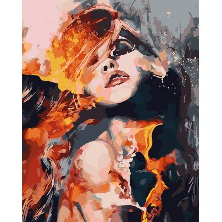 Картина по номерам Огненная страсть AS0086, ArtStory