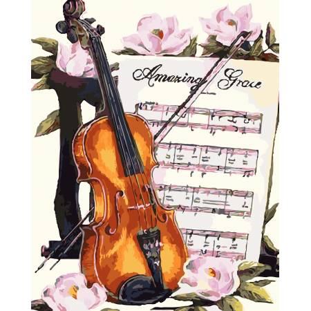 Картина по номерам «Мелодия для скрипки», модель AS0100