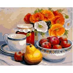 Натюрморт с маками и фруктами